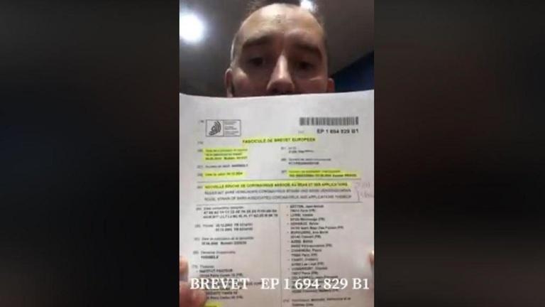 Brevet EP 1694829-B1, une vidéo complètement fausse sur le coronavirus