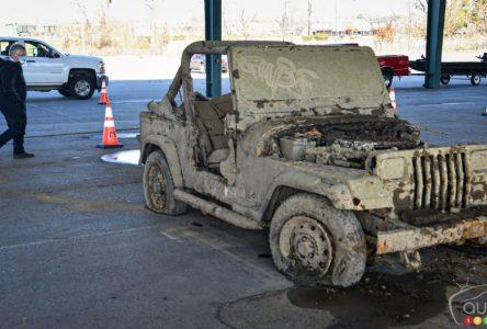 40 carcasses de véhicules repêchés dans les cours d'eau de Nashville